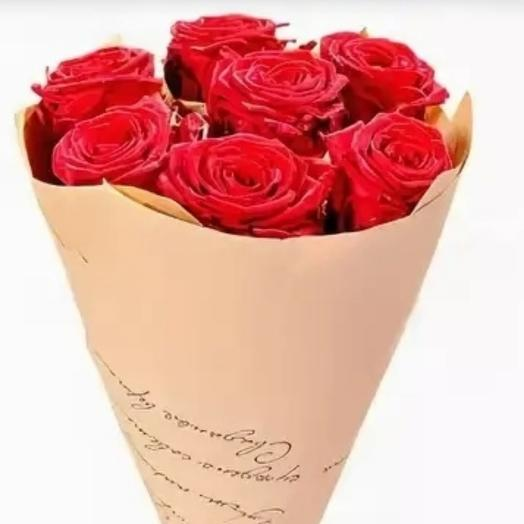 Red roses in crafting