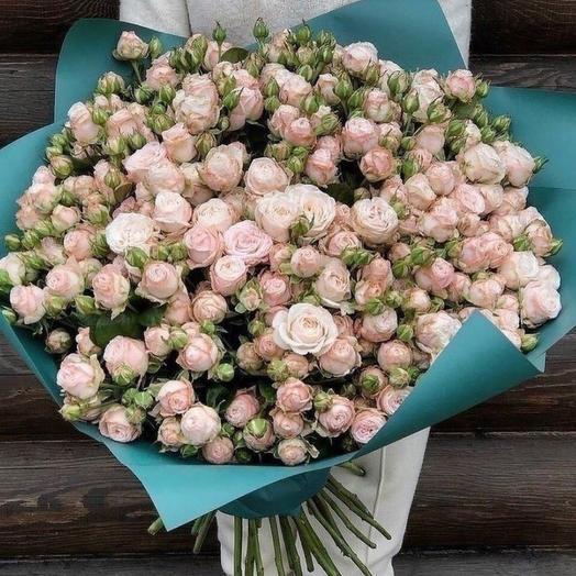 Букет кустовых роз «Аква Бомбастик»