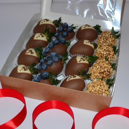 Клубника в бельгийском шоколаде в коробке