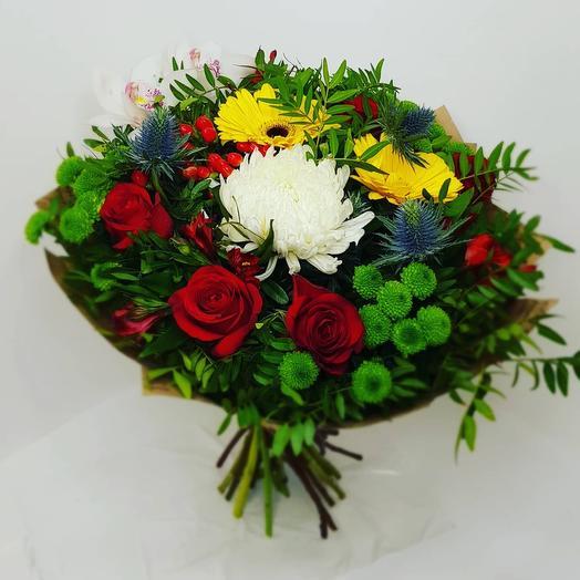 Букет с розой и гербером