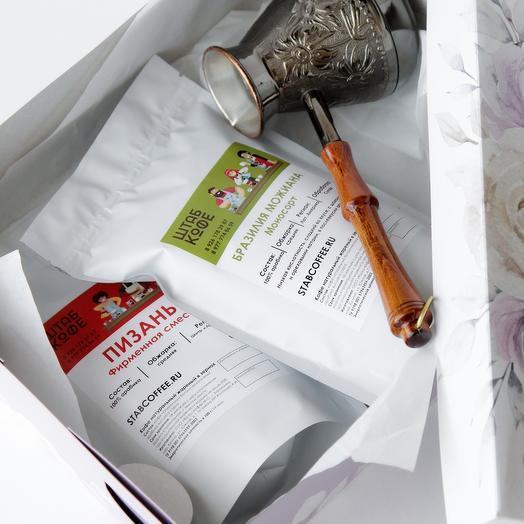 Подарочный набор кофе и турка