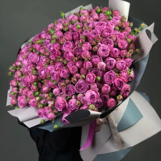 Букет кустовых пионовидных роз Мисти баблз