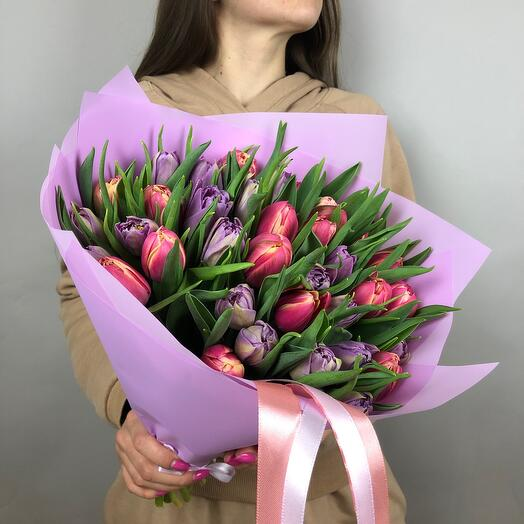 Микс из Пионовидных тюльпанов 35 шт