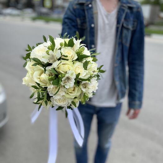 свадебный букет White 2