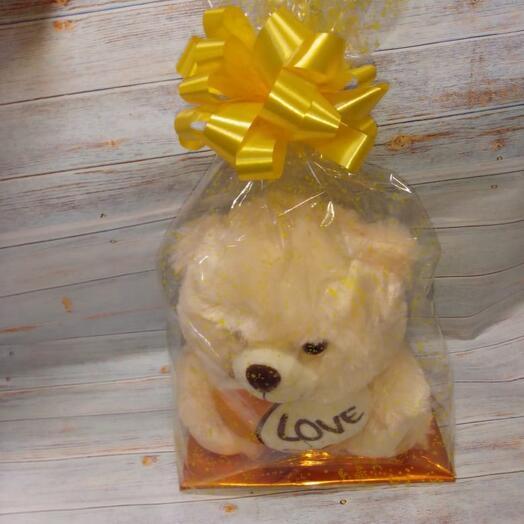Мишка в золотой упаковке