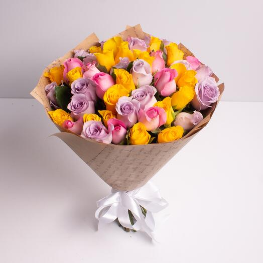 Букет из 51 розы (40 см)