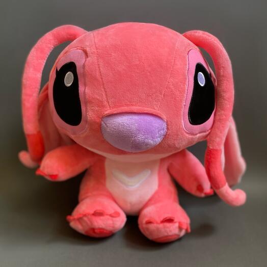 Милый розовый стич 40 см