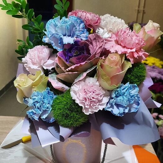 """Цветы в коробке""""Сверное сияние"""""""