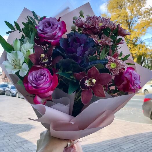 Авторский букет с розами