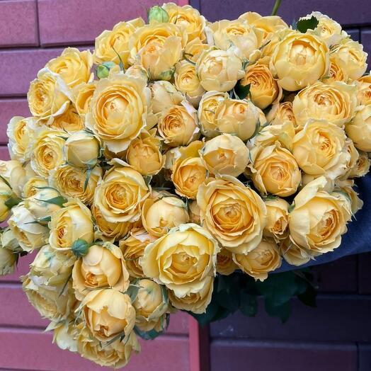 Пионовидная роза охапкой( 31ветка кустовая)