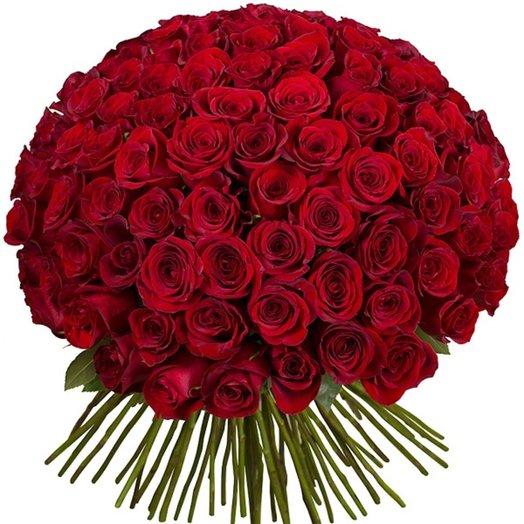 101 роза 60 см: букеты цветов на заказ Flowwow