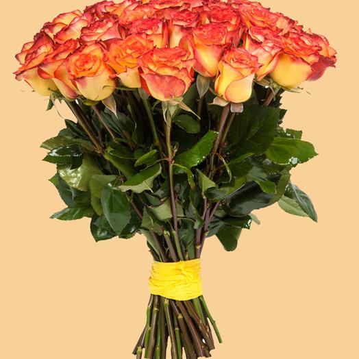 25 Оранжевых крупных роз: букеты цветов на заказ Flowwow
