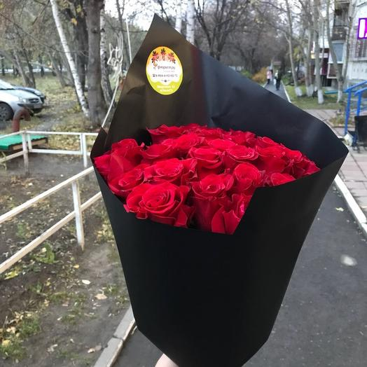 25 эквадорский элитных роз: букеты цветов на заказ Flowwow