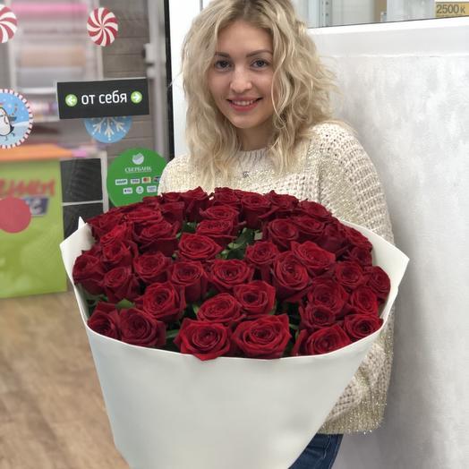 Объемный букет роз