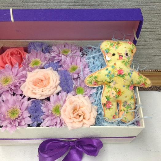 Мой Мишутка: букеты цветов на заказ Flowwow