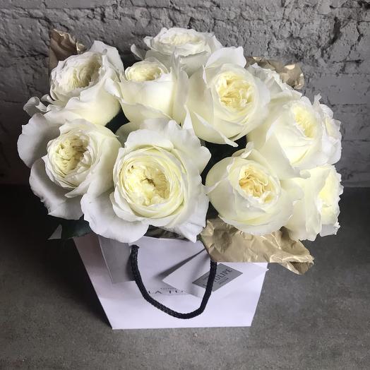Розы Девида Остина PATIENCE/ 11шт: букеты цветов на заказ Flowwow