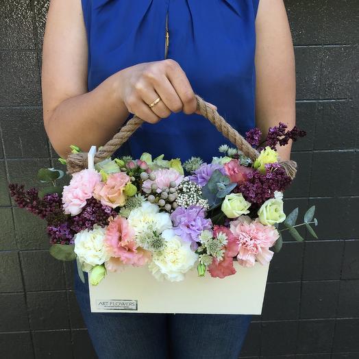 Великолепный ящик: букеты цветов на заказ Flowwow