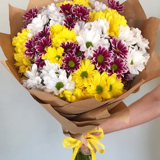 """Букет из 15 хризантем """"Модерн"""": букеты цветов на заказ Flowwow"""