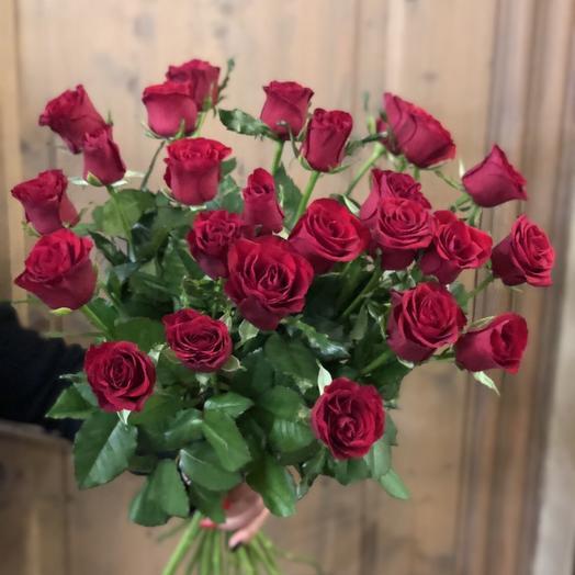 """Букет из красных роз """"23 розочки бордовые"""""""