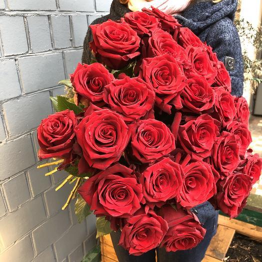 21 красная роза: букеты цветов на заказ Flowwow