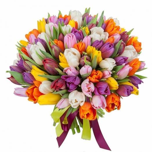 Тюльпан микс 51: букеты цветов на заказ Flowwow