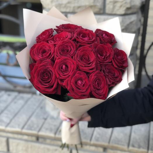Букет из 15 классических роз