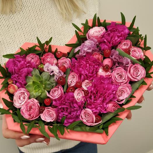 """Композиция  """"Ты-моё сердце"""" ️: букеты цветов на заказ Flowwow"""