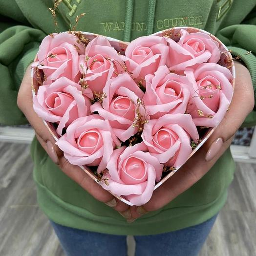 Сердечная нежность: букеты цветов на заказ Flowwow