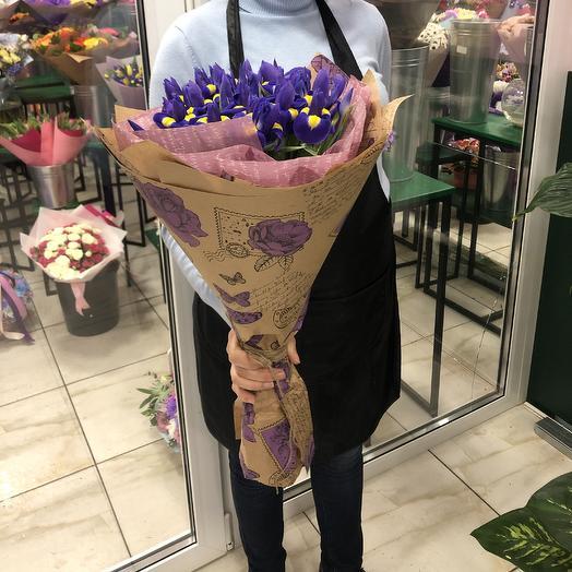 Букет 25 ирисов: букеты цветов на заказ Flowwow