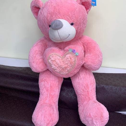 Мишка розовый: букеты цветов на заказ Flowwow