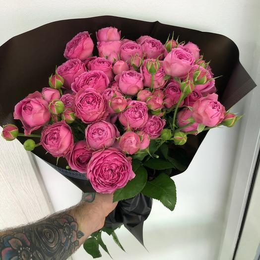 Пионовидные розы Мисти: букеты цветов на заказ Flowwow