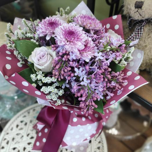Букетик цветов с сиренью: букеты цветов на заказ Flowwow