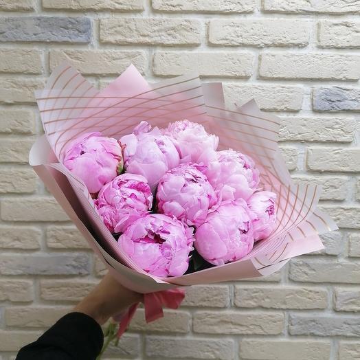 9 пионов: букеты цветов на заказ Flowwow