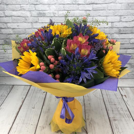 Летние краски: букеты цветов на заказ Flowwow