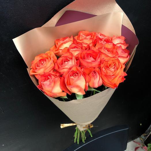 Лососевые розы 50 см