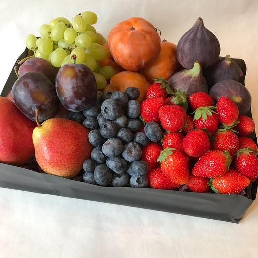 Large box of berries and fruit