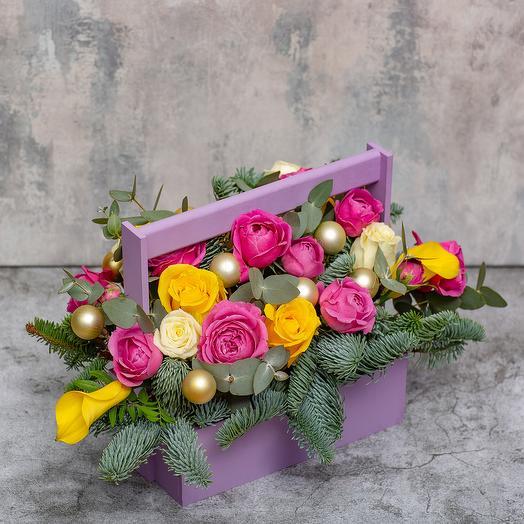 Ящик с цветами «Очарование»
