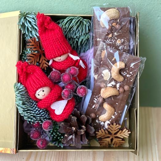 Новогодний набор «Кай и Герда» с бельгийским шоколадом ручной работы