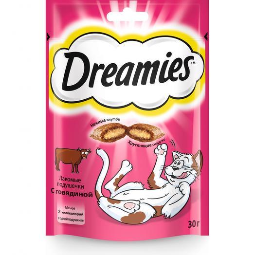 Dreamies лакомство с говядиной для кошек 30 г