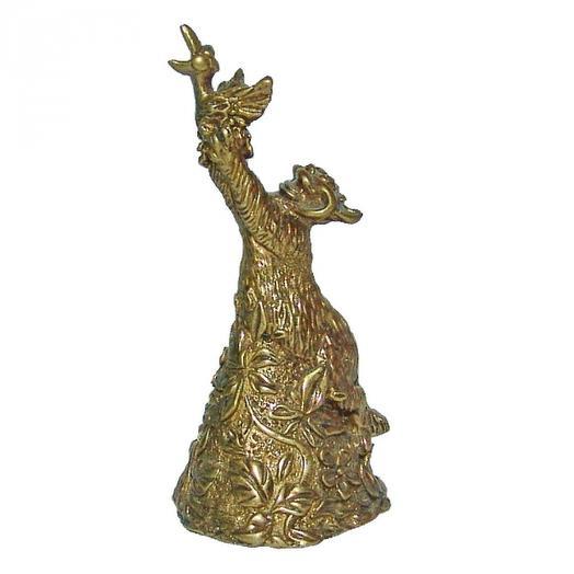 Колокольчик бронзовый Кот и ворона 7 см