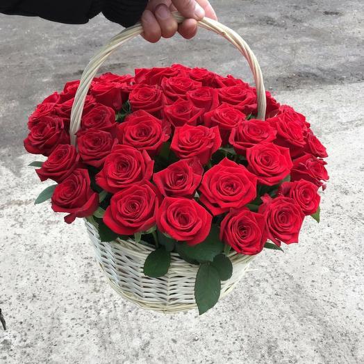 """Корзина с цветами """"Вдохновение"""""""