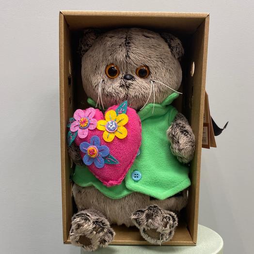 Басик с сердцем в цветочек