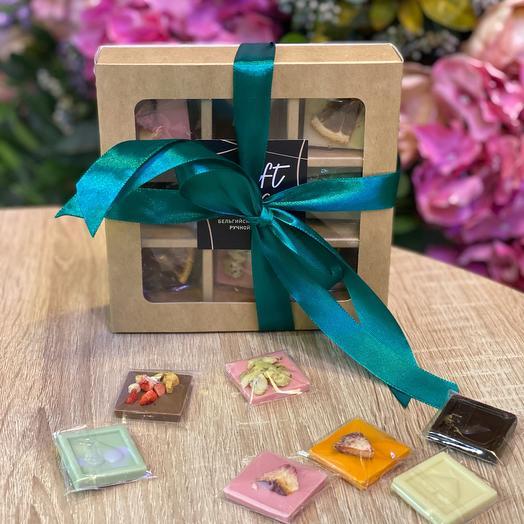 Набор мини-плиток бельгийского шоколада
