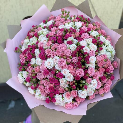 Наилучший букет из 101 кустовых роз