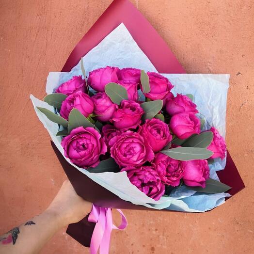 Семь Сортовых пионовидных роз