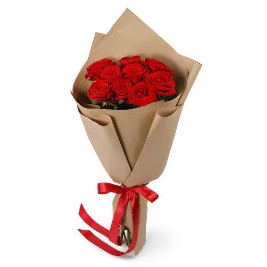 Букет из 9 красных роз Поцелуй меня