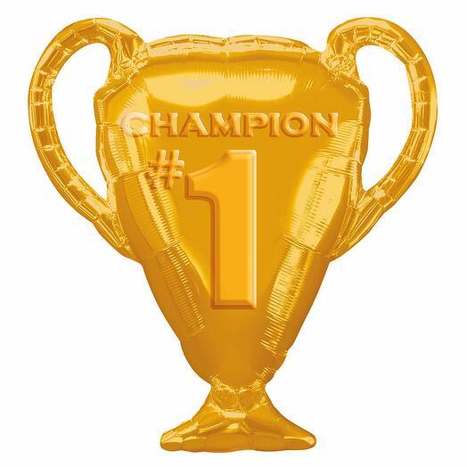 Шар из фольги «Кубок Чемпиона, золотой»