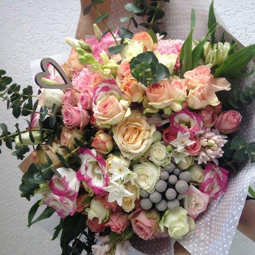Взрыв нежности: букеты цветов на заказ Flowwow