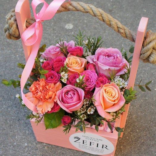 Peach and raspberry: букеты цветов на заказ Flowwow