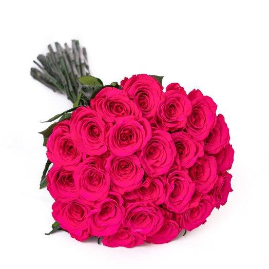 Букет из 25 насыщенных роз